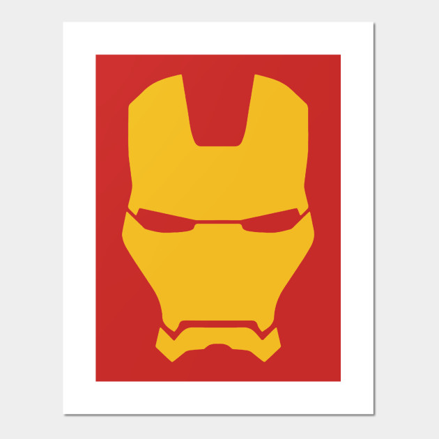 Iron Man Helmet Logo With Name On Back Iron Man Posters And Art Prints Teepublic