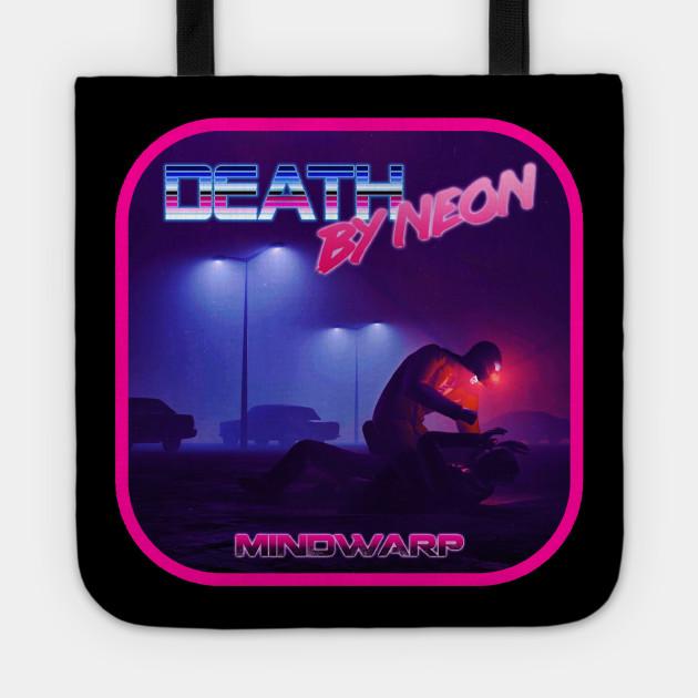 Death By Neon Album Mindwarp Logo Design - Official Product - cinematic  synthwave / horror / berlin school / retrowave / dreamwave t-shirt