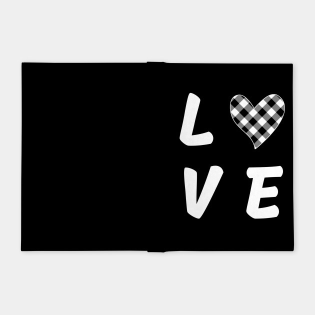Black and White love heart Valentine's day gift