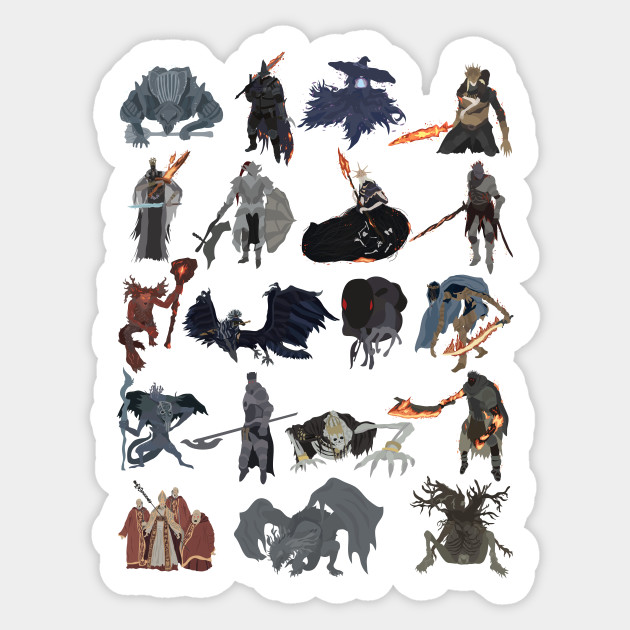 dark souls iii all bosses dark souls sticker teepublic
