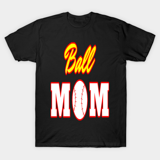Funny Softball Mom T Shirt Ball Mom Softball Baseball Tee Funny