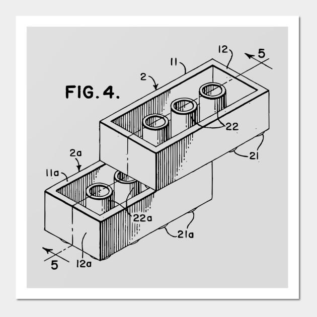 Lego piece patent blueprint lego wall art teepublic 2781689 0 malvernweather Images