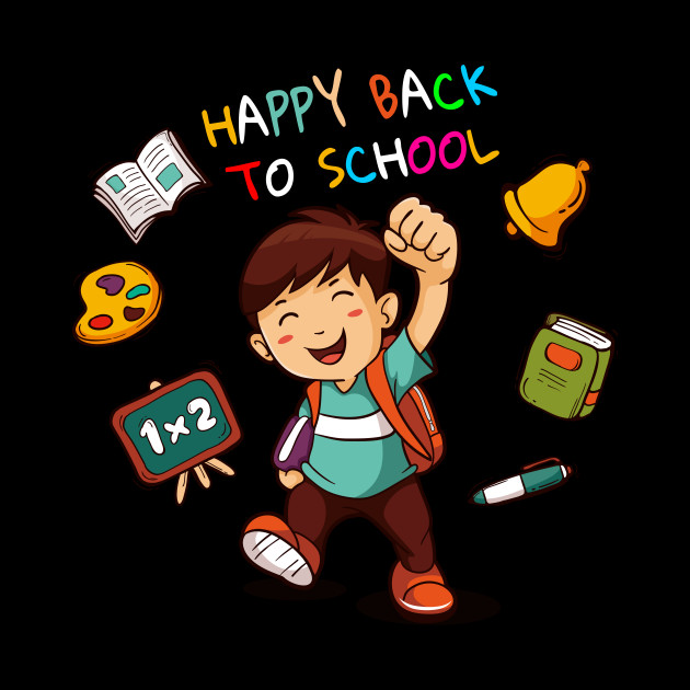 Happy Back To School TShirt Funny Teacher Love Gift T-Shirt