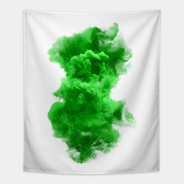 Green and white cloud