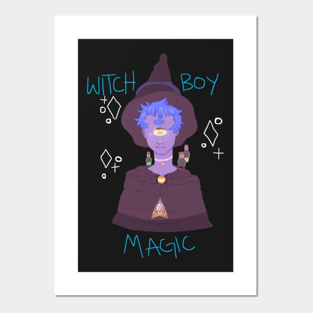 Witch Boy Aesthetic Affiche Et Impression D Art Teepublic Fr