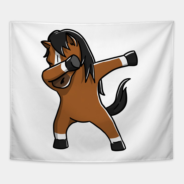 Cute dabbing horse t shirt funny pet lover gift horse tapestry 2038717 1 negle Images