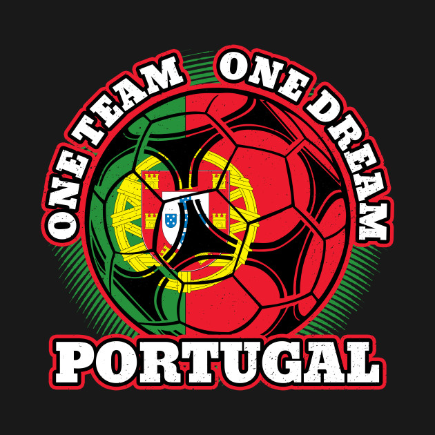 Distressed Flag Of Portugal Soccer Ball One Team One Dream