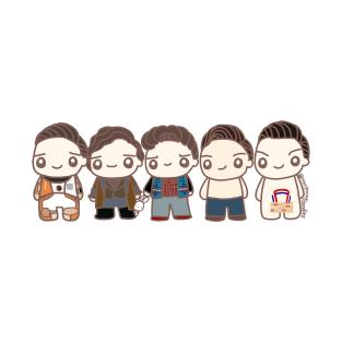 Five Seb Characters t-shirts