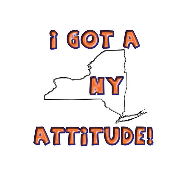 New York Attitude blue and orange