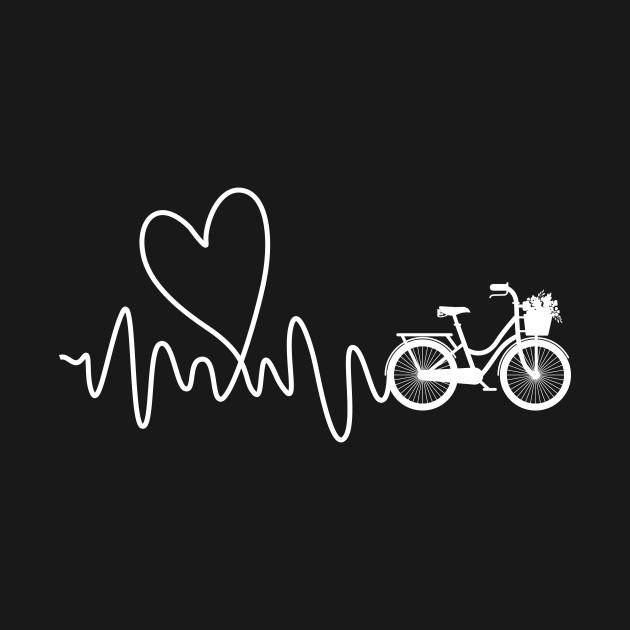 Womens Heartbeat Biking and Cycling Gift