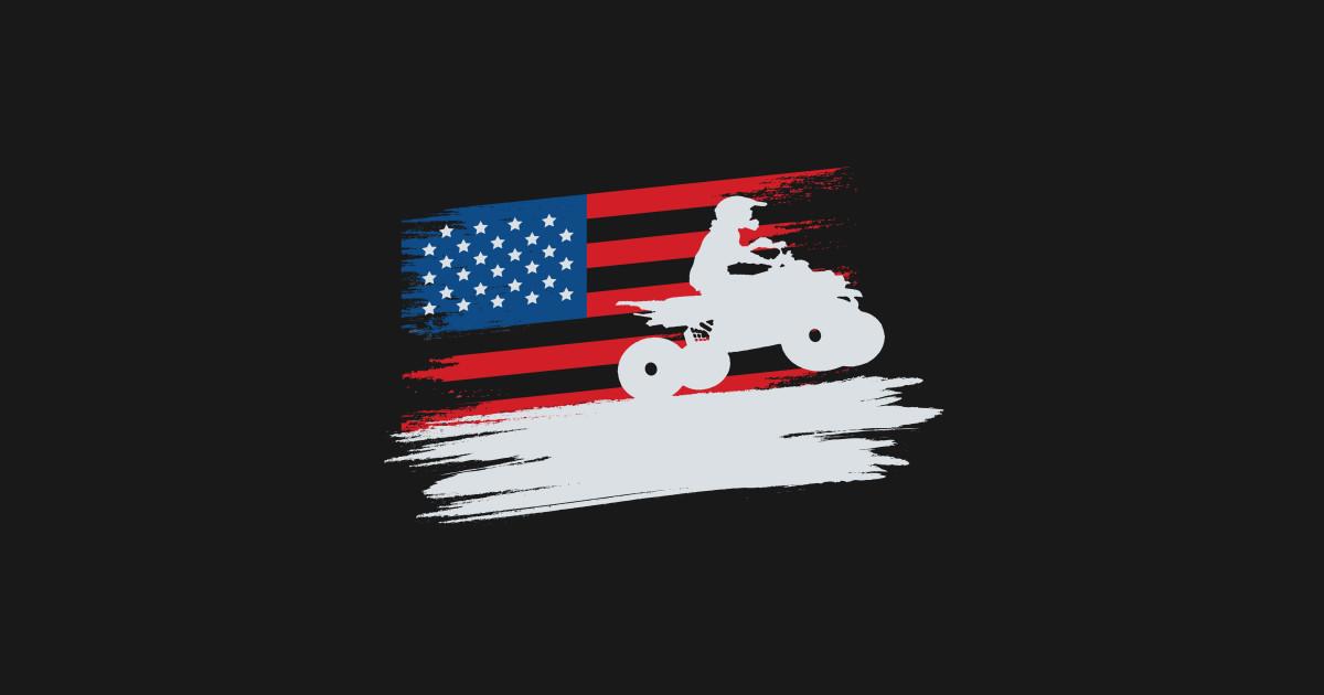 USA ATV and American Four Wheeler Quad Bike Gift Hoodie