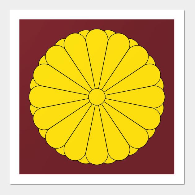 Japan Coat Of Arms - Japan - Wall Art | TeePublic