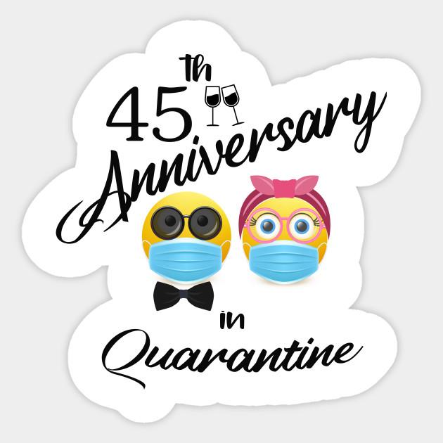 45th Wedding Anniversary Best Gift For Parents Anniversary Sticker Teepublic