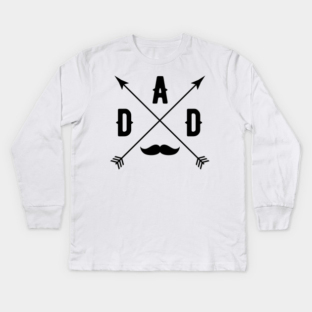 Fathers Day Gifts Dad Mustache Funny Birthday Shirt Kids Long Sleeve T