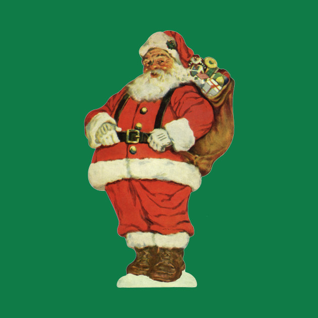 Vintage Santa Claus - Santa Claus - T-Shirt | TeePublic