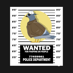 77fb0ff1121 Wanted Pigeon Funny T-Shirt Bird Birding Lover Gift T-Shirt