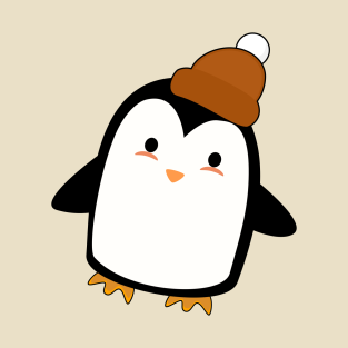 Kawaii Penguin with a beanie t-shirts