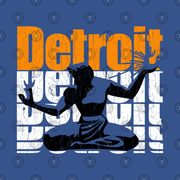 Retro '80s DETROIT (distressed vintage look)