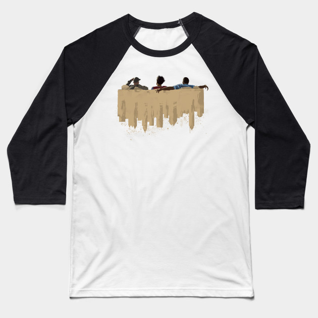 Atlanta Skyline Couch Baseball T-Shirt