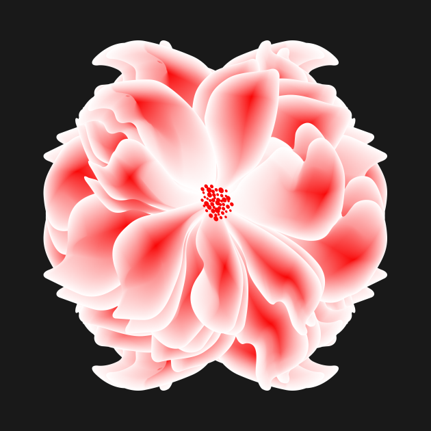 Abstract red and white flower