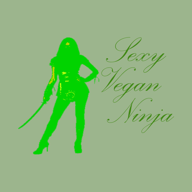 sexy vegan ninja unique design vegetarian community