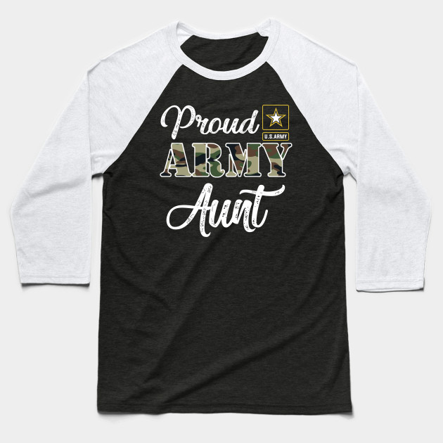 Proud US Army Aunt Baseball T-Shirt