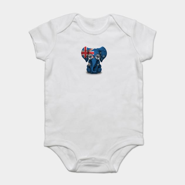 d7e0842af575 Baby Elephant with Glasses and Australian Flag - Australia - Onesie ...