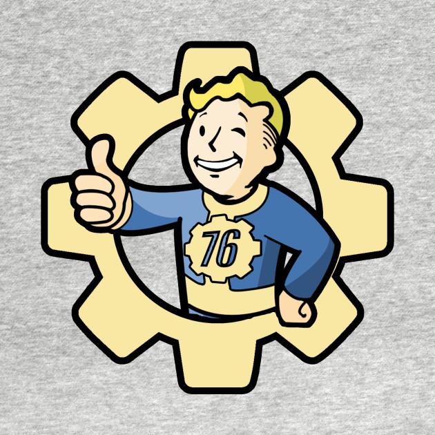 fallout 76 vault boy fallout 76 kids t shirt teepublic