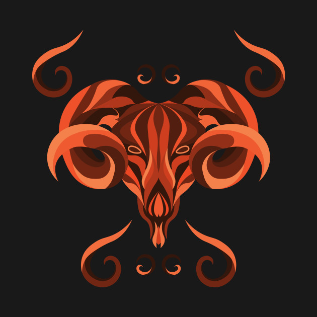 Aries Zodiac Sign - Orange