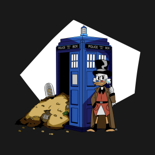 bef95ba2 the 10th Doctor vs Ducktales Scrooge T-Shirt