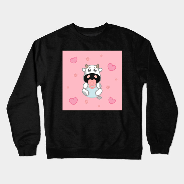 02ada235d Cute Baby Cow In Diaper - Cow - Crewneck Sweatshirt | TeePublic