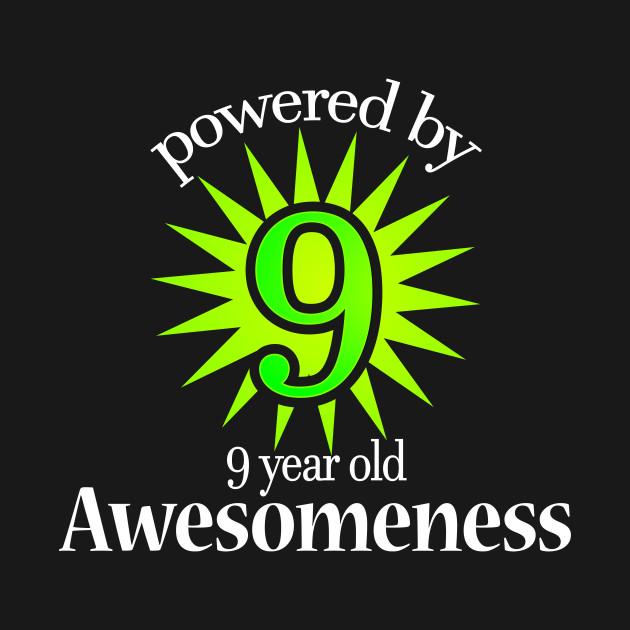 9 Year Old Birthday Shirt