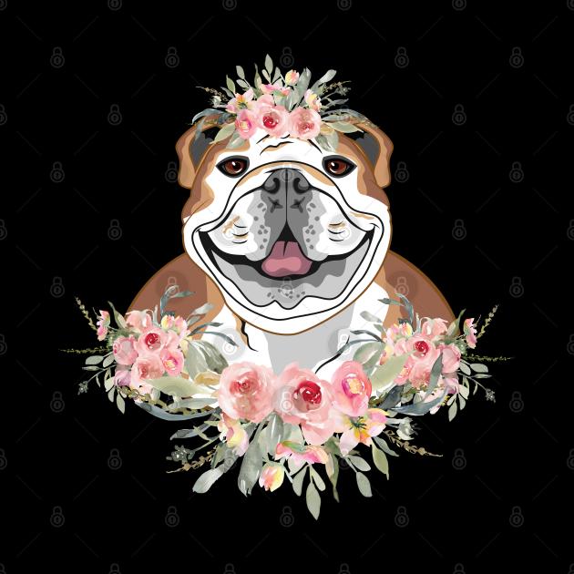 Pretty Floral Pitbull Pit Bull Gift for Women