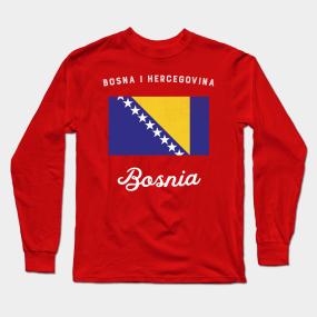 6a0b9914f Bosnia Flag Long Sleeve T-Shirt
