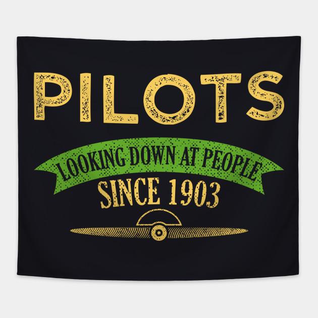 Funny Pilot T Shirts Birthday Gift Idea Tapestry