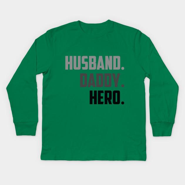 Mens Husband Daddy Hero Shirt Parents Day Gift Dad