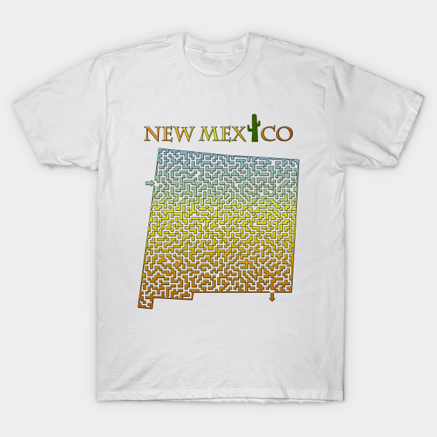 100eecc553e State of New Mexico Colorful Maze - New Mexico - T-Shirt
