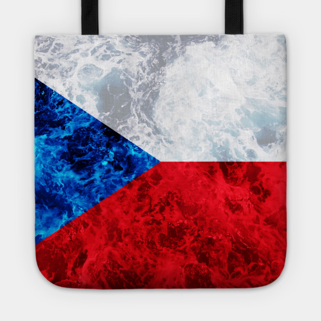 Flag of Czech Republic – Ocean Waves