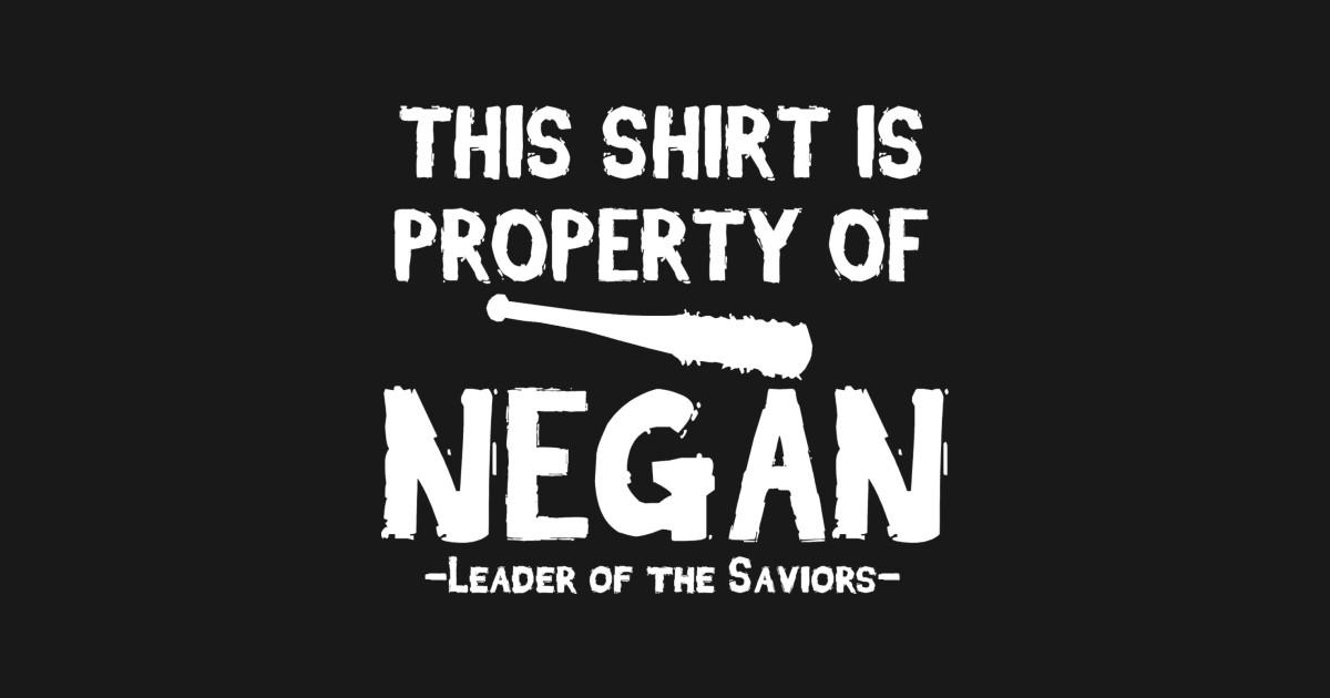 Property of negan the walking dead t shirt teepublic for Property of shirt designs
