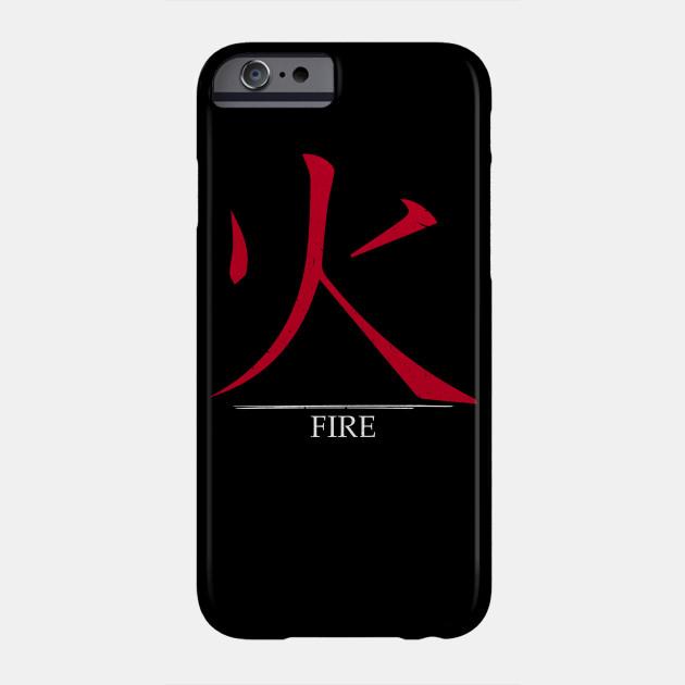 Japanese Symbol For Fire Kanji Japanese Symbol Phone Case