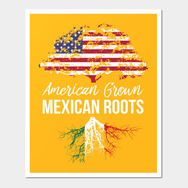 American Grown with Mexican Roots Shirt - Mexico Tee - American ...