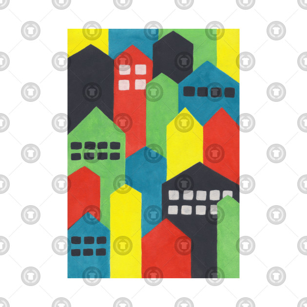 Colourful Painted Cityscape