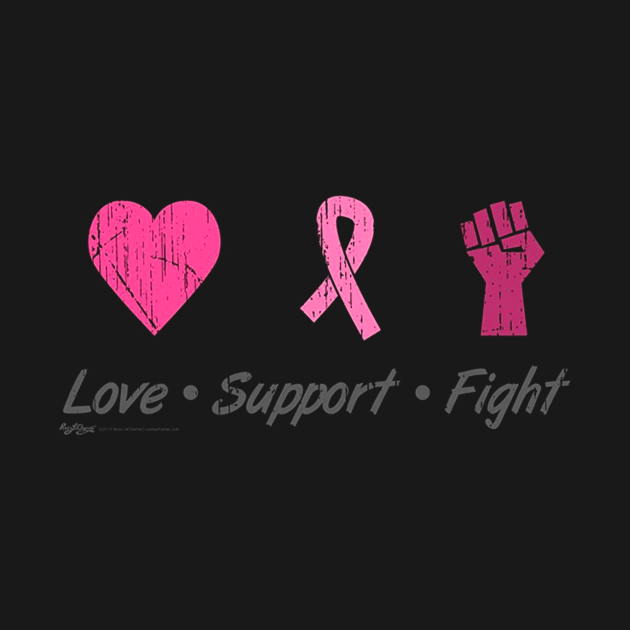 Love Support Fight Breast Cancer Awareness