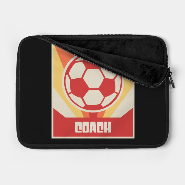COACH - Vintage Style Soccer Coach Poster