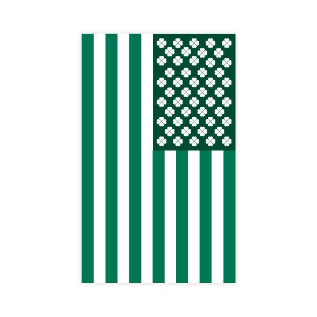 American Flag Saint Patrick's Day