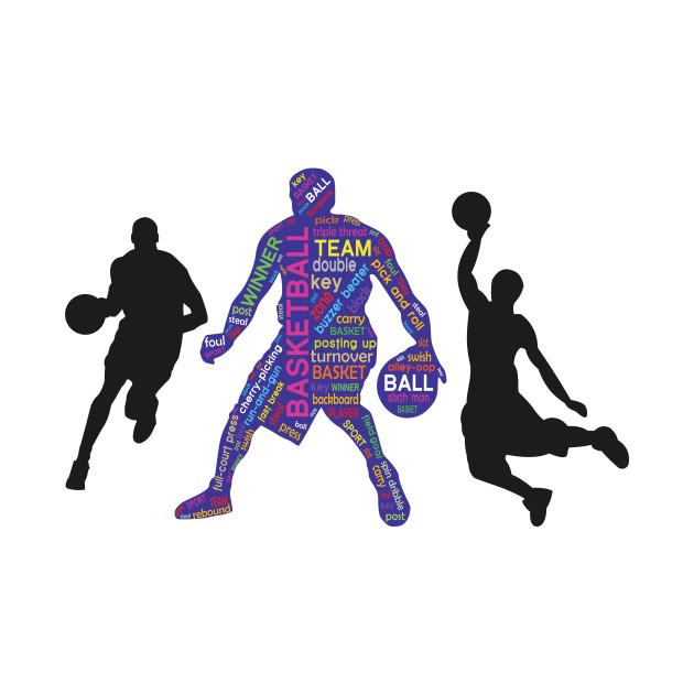 Basketball Team Player Typography