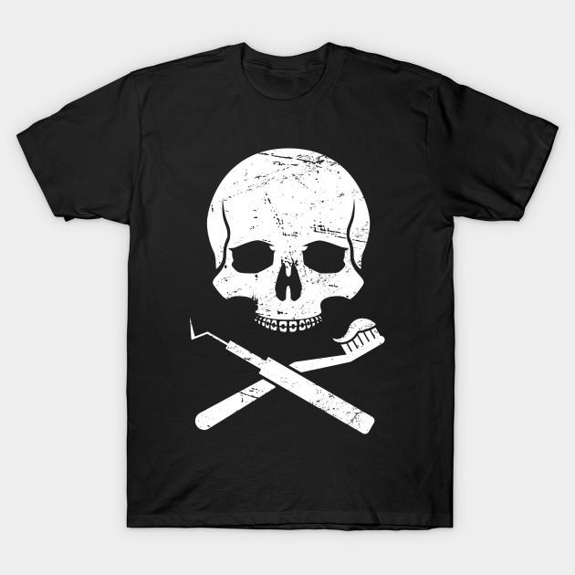 7c1fb14d5 Skull & Crossbones – Clever Dentist Design - Dentist - T-Shirt ...