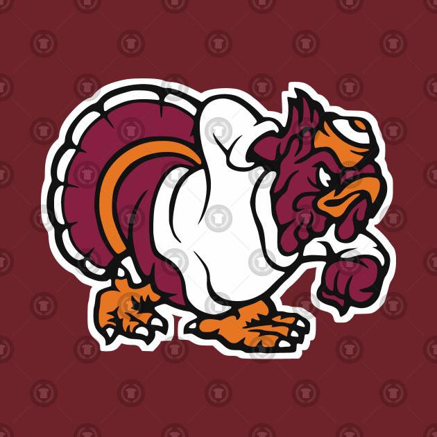 Vintage Style Turkey / Hokie Bird Mascot