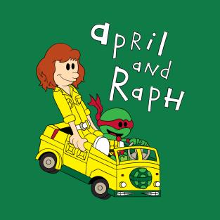 April & Raph t-shirts