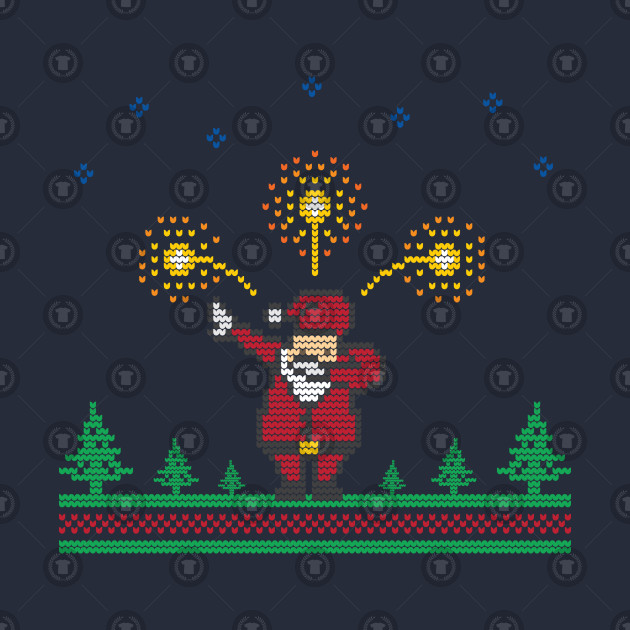 e684f6d1 Ugly Christmas Sweater 8 bit Santa Dabbing - Ugly Christmas Sweater ...